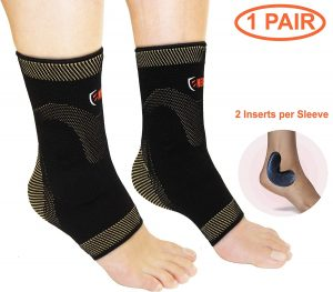 Plantar Fasciitis Ankle Sleeves with Silicone Gel Inserts